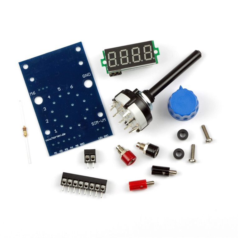 Digital Voltmeter Kit : Kit simulator panel voltmeter for analog values horter