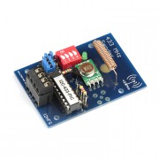 Kit I2C radio transmitter 433 MHz for DIN rail