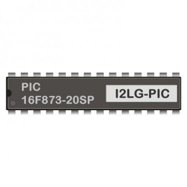 PIC 16F873-20SP programmed for LCD-Gateway