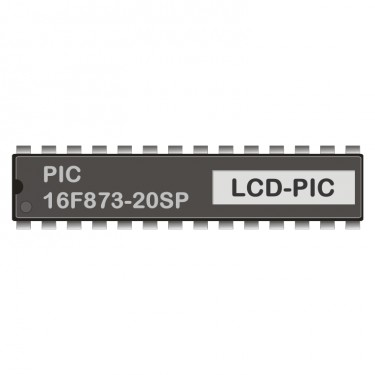 PIC 16F873-20SP programmed for LCD-Display