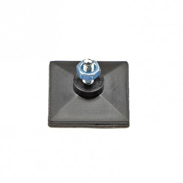 Self-adhesive basse with set screw and nut M3