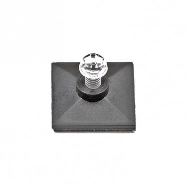 Self-adhesive base with thread and Plastic screw M4 x 6 mm