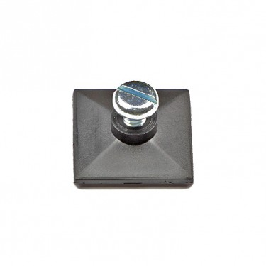 Self-adhesive base with thread and screw M4 x 6 mm