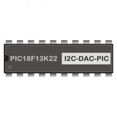 PIC18F13K22 programmed for Analog-Output I2HAA