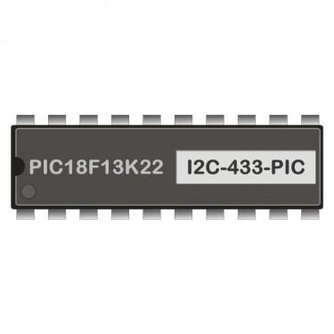 PIC18F13K22 programmed for I2C-radio transmitter 433 MHz