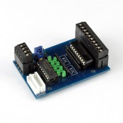 I2C digital output module with optocoupler plug in terminals