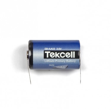 Lithium PLC-battery 1/2 AA 1200 mAh with solder tails